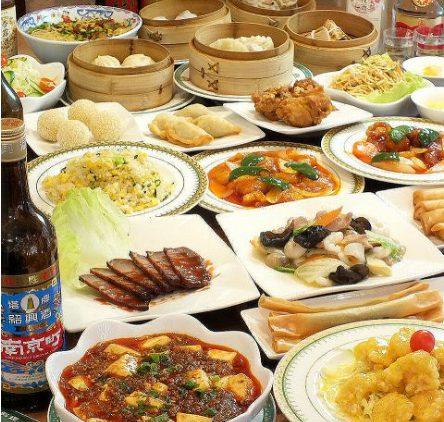 上海飲茶のテーブルバイキング