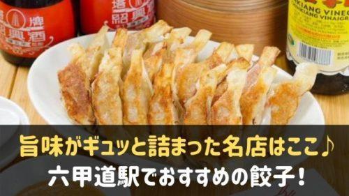 六甲道駅でおすすめの餃子