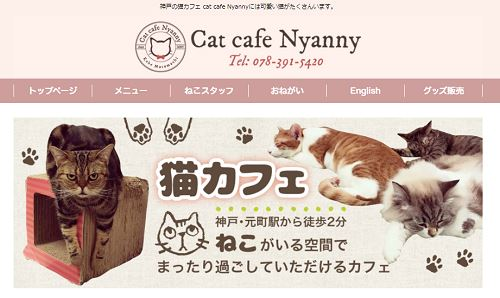 cat cafe Nyanny 神戸店