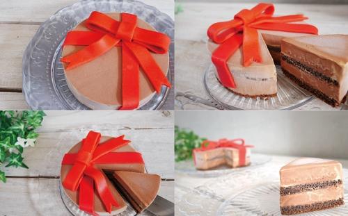 チョコレートのジェラートケーキ